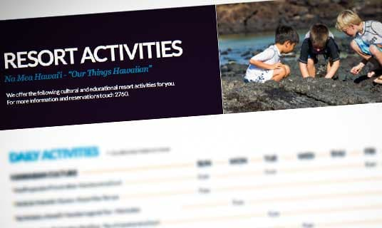 Resort Activity Calendar