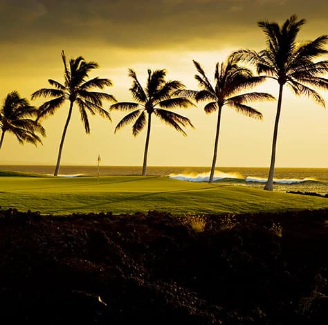 Beach Course features scenic views of the Kohala Coast
