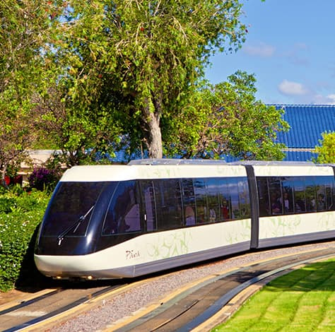 Trams in the resort
