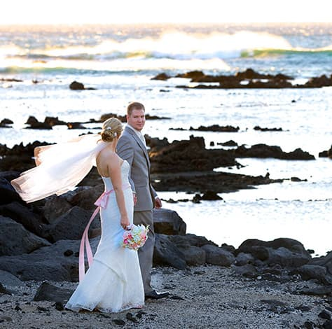 Newly weds on the Kohala Coast